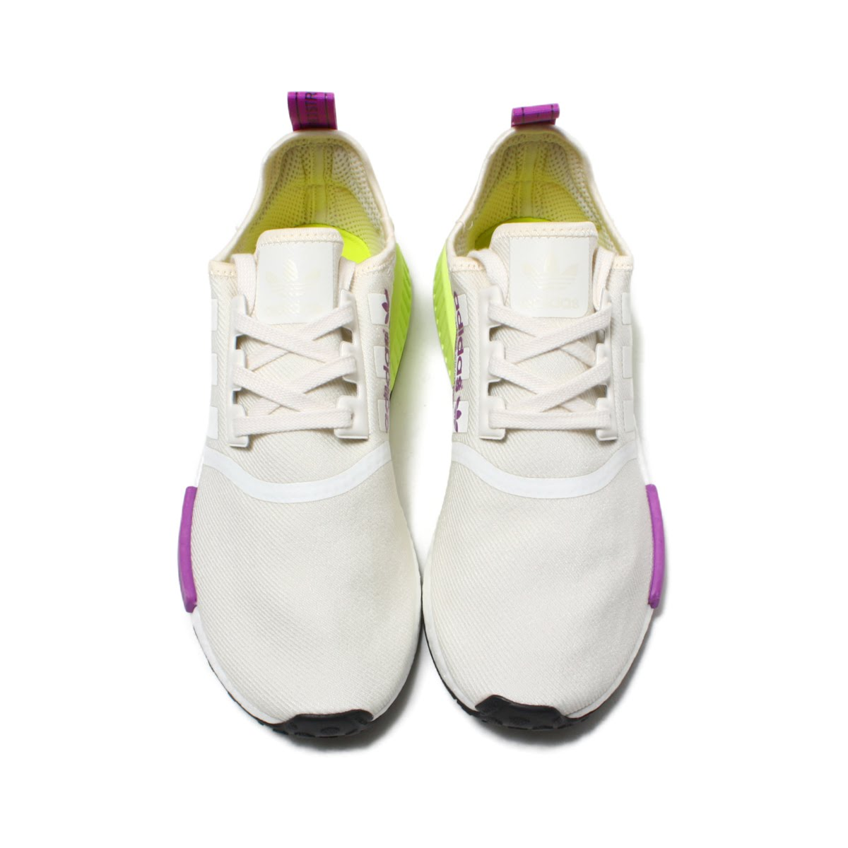 2ec859d87 adidas NMD R1 (Adidas N M D R1) chalk white   chalk white   semi-solar  yellow 18FW-I
