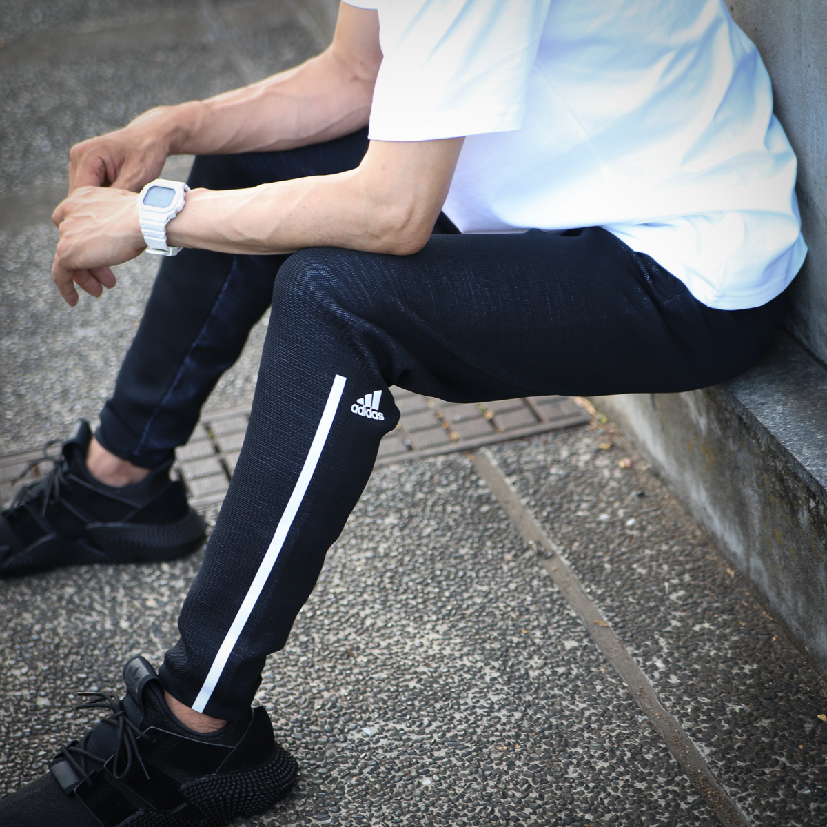 adidas M adidas Z.N.E. Parley PANTS(アディダス ゼットエヌイーパーレィフーディ-)BLACK【メンズ パーカー】18FW-I