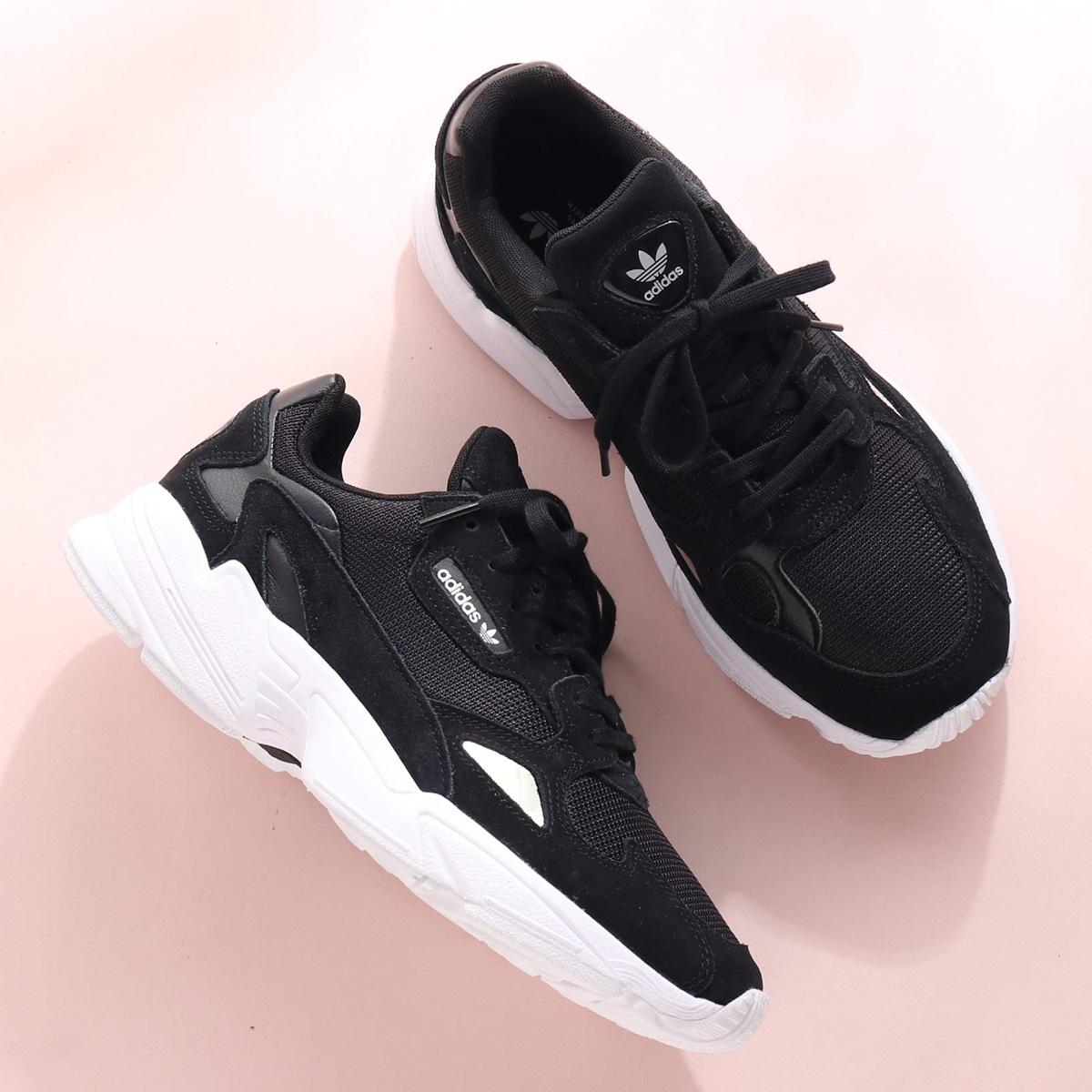 the latest c77ca fbc15 adidas Originals FALCON W (Adidas originals falcon W) CORE BLACK CORE  BLACK RUNNING WHITE 18FW-S