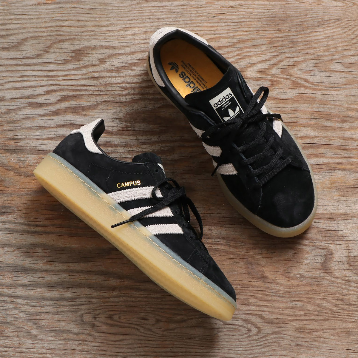 check-out 0a7a0 3c76b adidas Originals CAMPUS W (Adidas original scan pass W) CORE BLACK/GREY/GUM  18FW-I