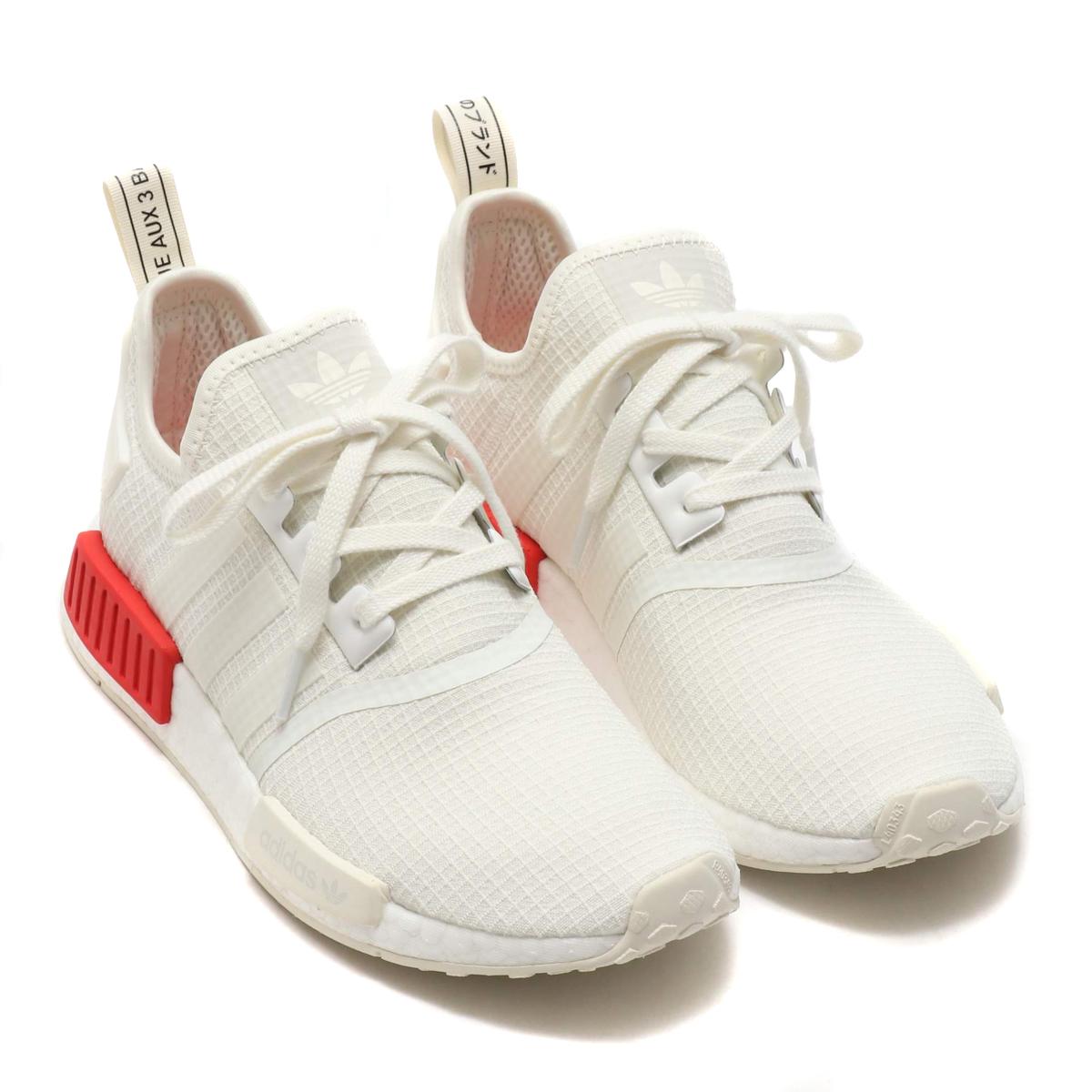 promo code 37e75 f7f3d adidas NMD_R1 (Adidas N M D R1) off-white / off-white / rush red 18FW-I