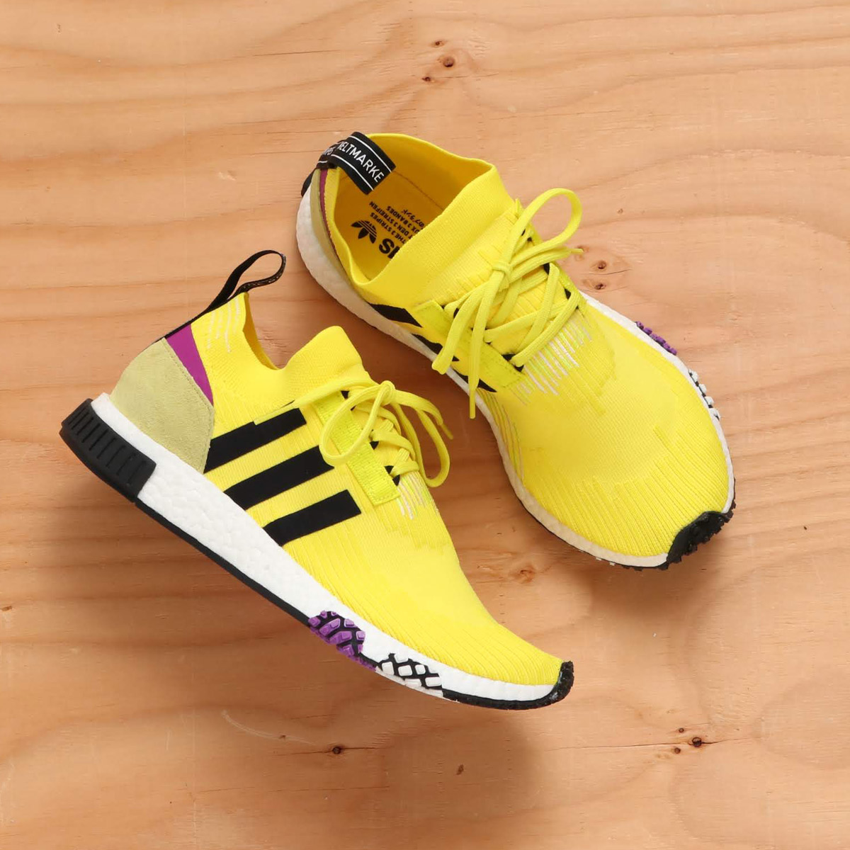 626ee0c39e8 adidas Originals NMD RACER PK (Adidas originals N M D racer PK) solar  yellow   core black   shock purple F16 18FW-I