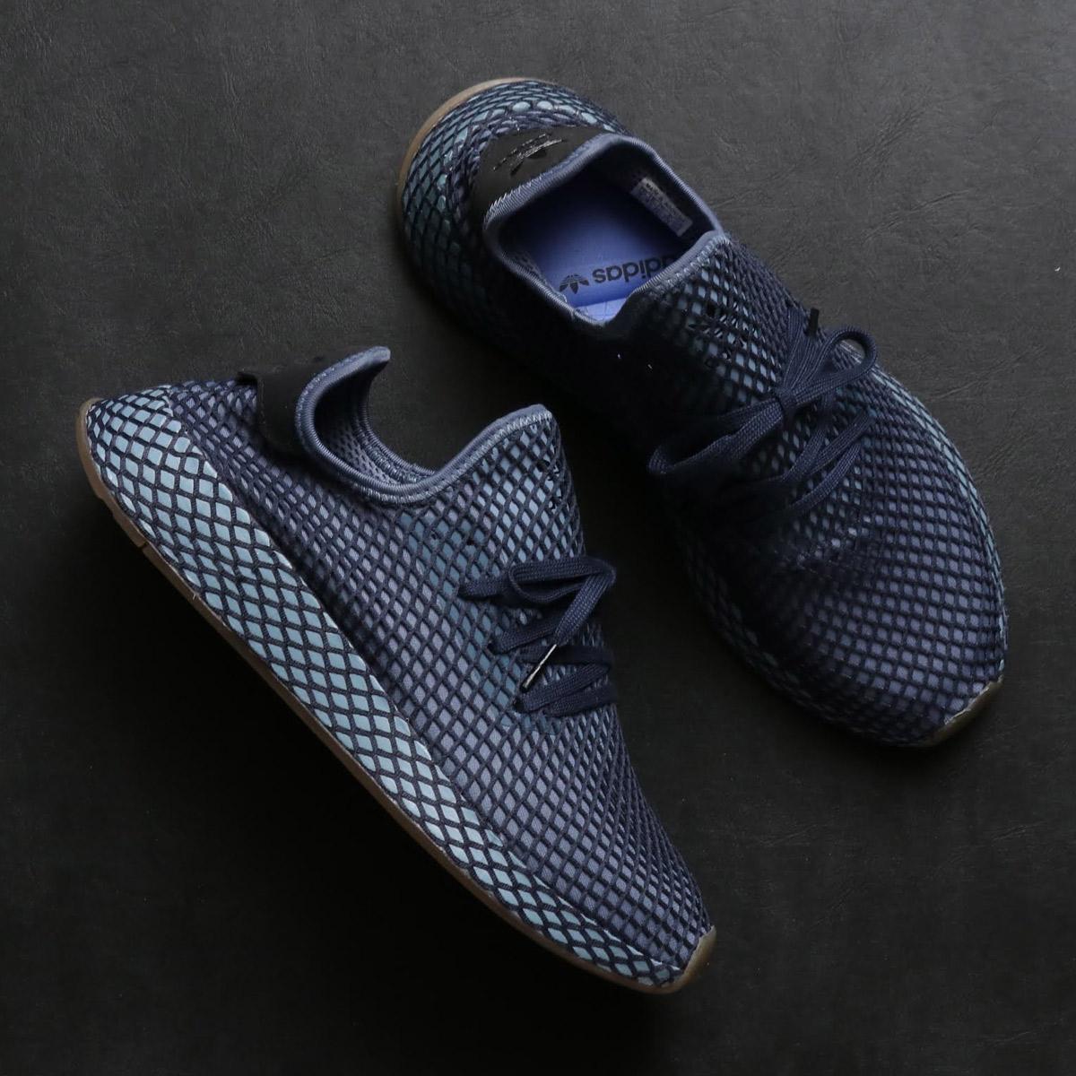 adidas Originals DEERUPT RUNNER(アディダス オリジナルス ディ-ラプトランナー)DARK BLUE/DARK BLUE/ASH BLUE【メンズ スニーカー】18FW-I