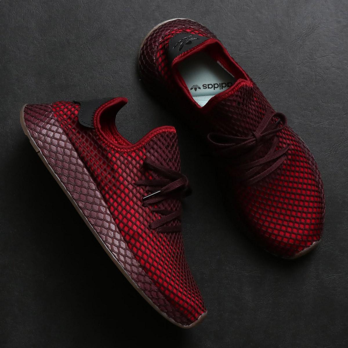 e0a8987a7 adidas Originals DEERUPT RUNNER (Adidas originals D - ラプトランナー) COLLEGEATE  BURGUNDY COLLEGEATE BURGUNDY ASH GREEN 18FW-I
