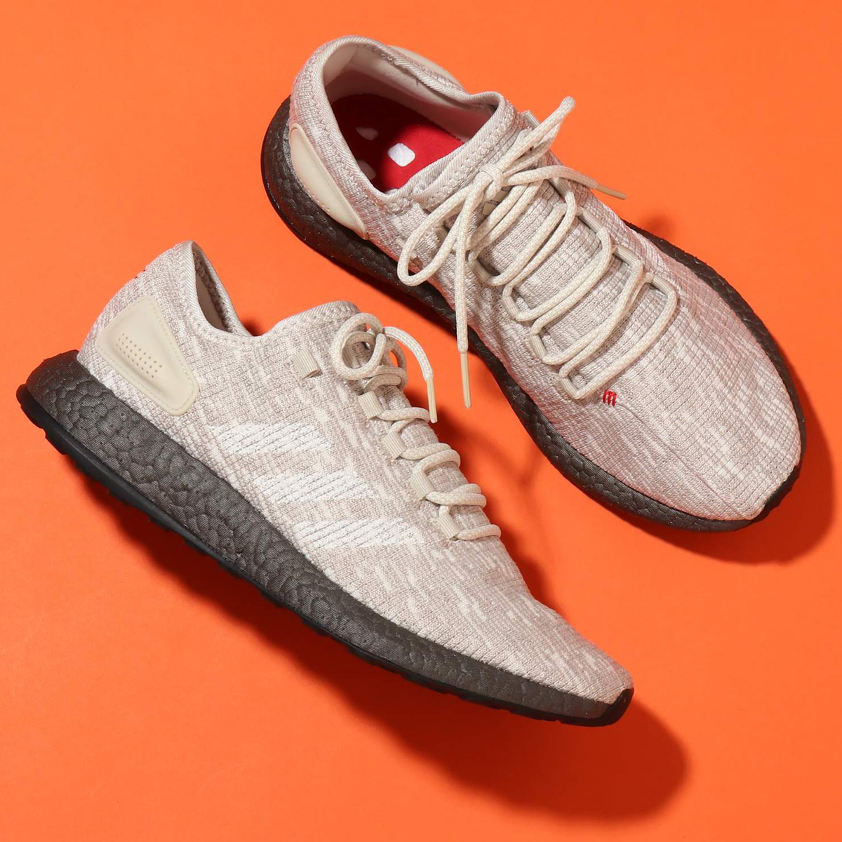 adidas PureBOOST(アディダス ピュアブースト)CLEAR BROWN/RUNNING WHITE/SCARLET【メンズ スニーカー】18FW-S