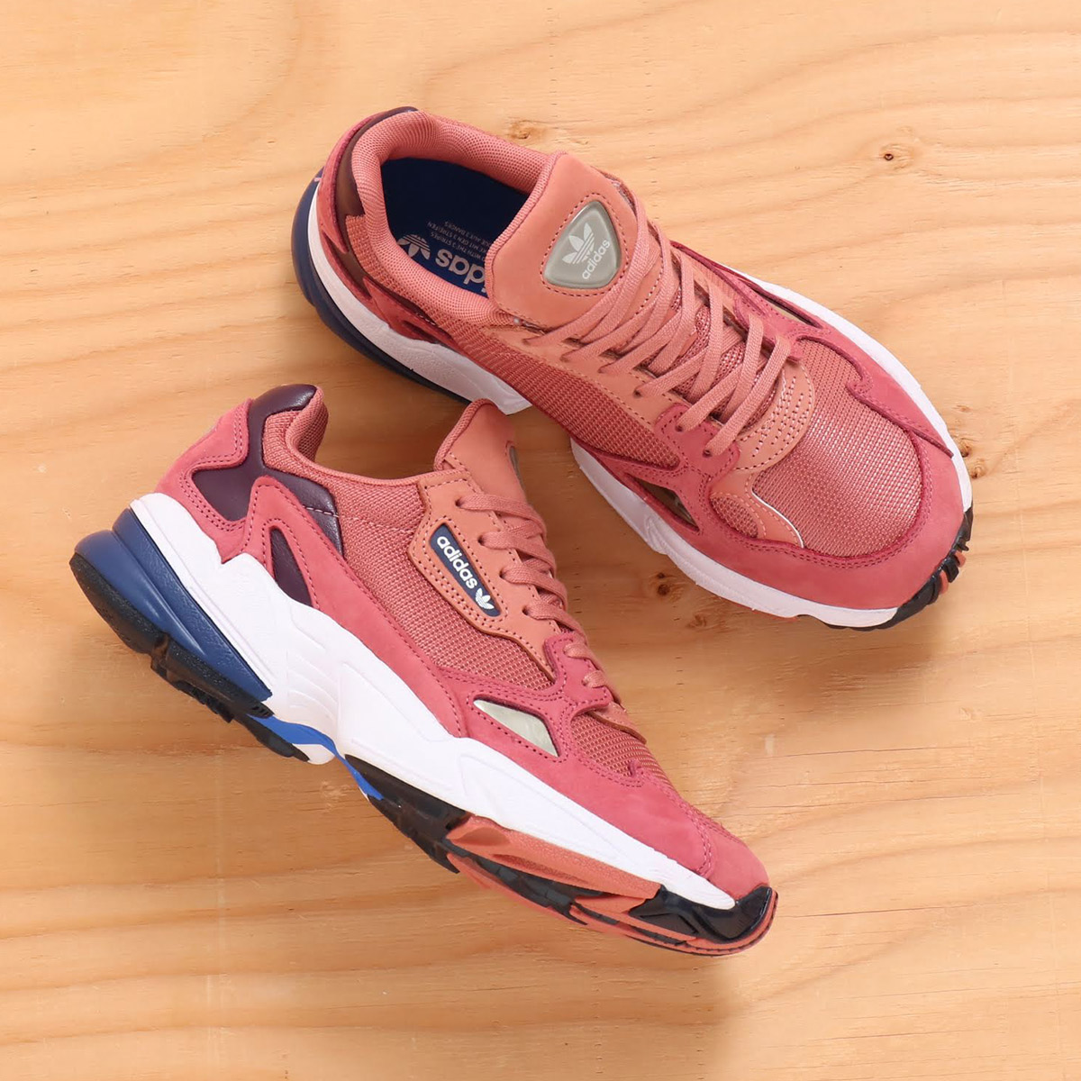 adidas Originals FALCON W (Adidas originals falcon W) RAW PINK/RAW  PINK/DARK BLUE 18FW-I