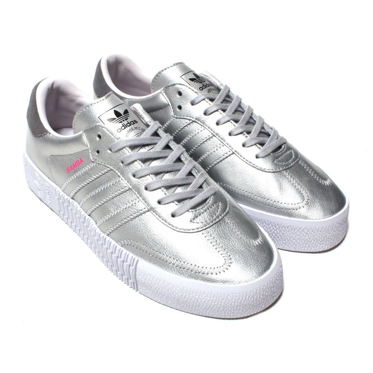 adidas Originals SAMBAROSE W LL(アディダス オリジナルス サンバローズW LL)SILVER MET/SILVER MET/ORCHID TINT【メンズ レディース スニーカー】18FW-I