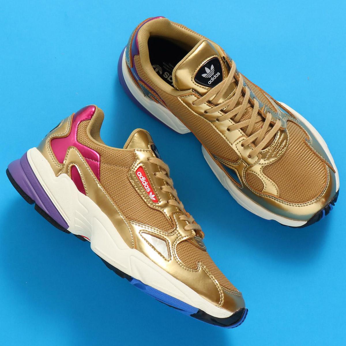adidas Originals ADIDASFALCON W(アディダスオリジナルス ファルコン W)ゴールドメット/ゴールドメット/オフホワイト【レディース スニーカー】19SS-S