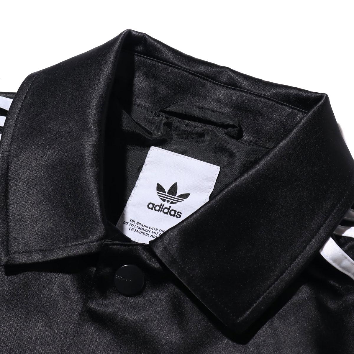 adidas SATIN COACH JACKET アディダス サテン コーチ ジャケット BLACK メンズ ジャケット 19FW SsxrhCBtQd