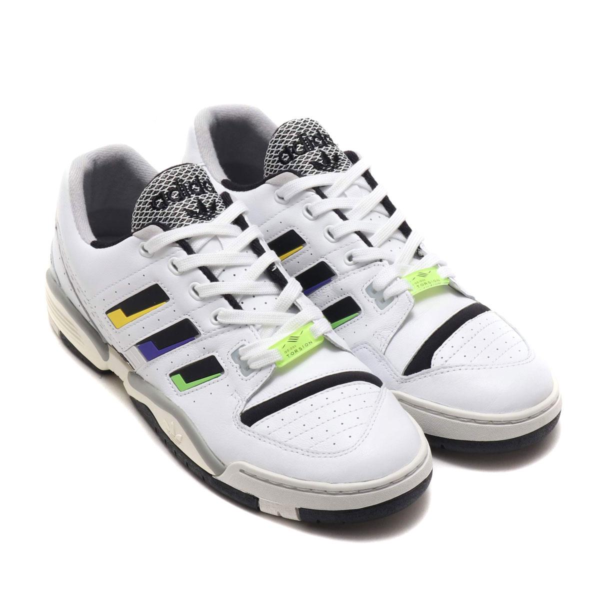adidas TORSION COMP(アディダス トルション コンプ)RUNNING WHITE/CORE BLACK/SOLAR YELLOW【メンズ レディース スニーカー】19FW-I