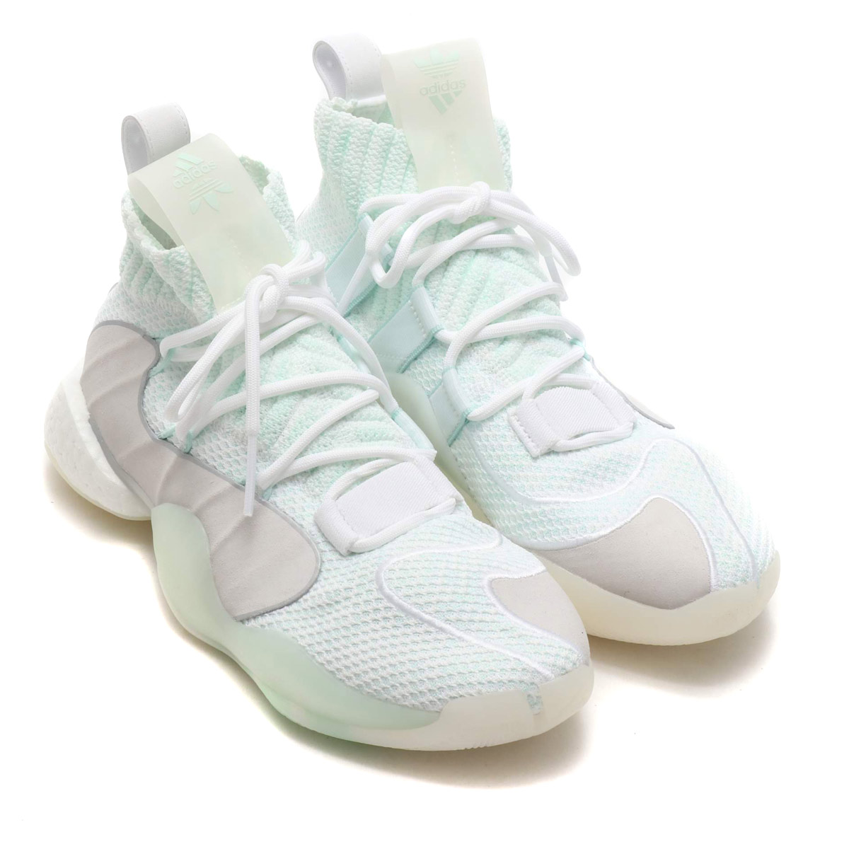 adidas Originals CRAZY BYW LVL X(アディダスオリジナルス クレイジー BYW LVL X)RUNNING WHITE/ICE MINT/TRUE ORANGE【メンズ スニーカー】19SS-I