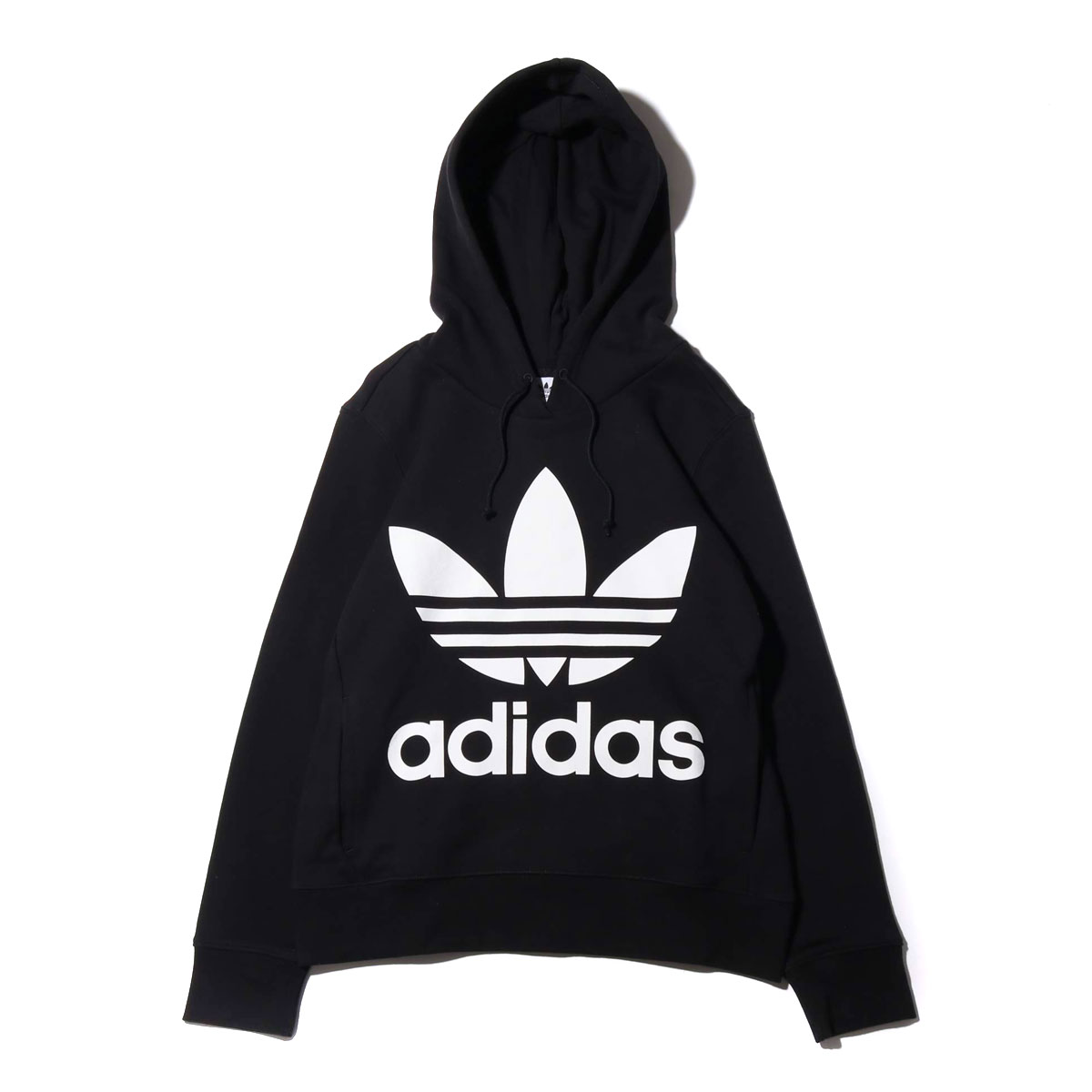 adidas Originals TREFOIL HOODIE(アディダスオリジナルス トレフォイル フーディー)BLACK【レディース パーカー】19SS-I