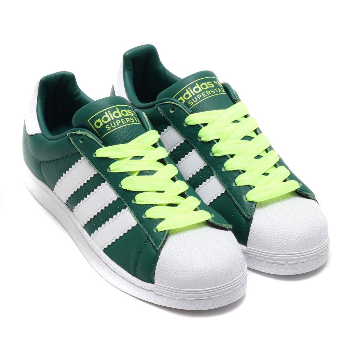 adidas Originals SUPERSTAR(アディダスオリジナルス スパースター) COLLEGEATE GREEN/RUNNING WHITE/HI-RES YELLOW【メンズ レディース スニーカー】19SS-S