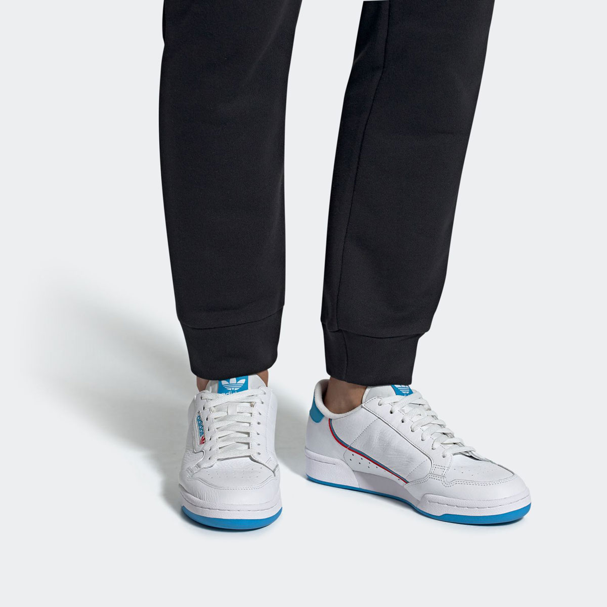 adidas Originals CONTINENTAL 80 (アディダスオリジナルス コンチネンタル 80)FTWR WHITE/SHOCK CYAN/FTWR WHITE【メンズ レディース スニーカー】19SS-I