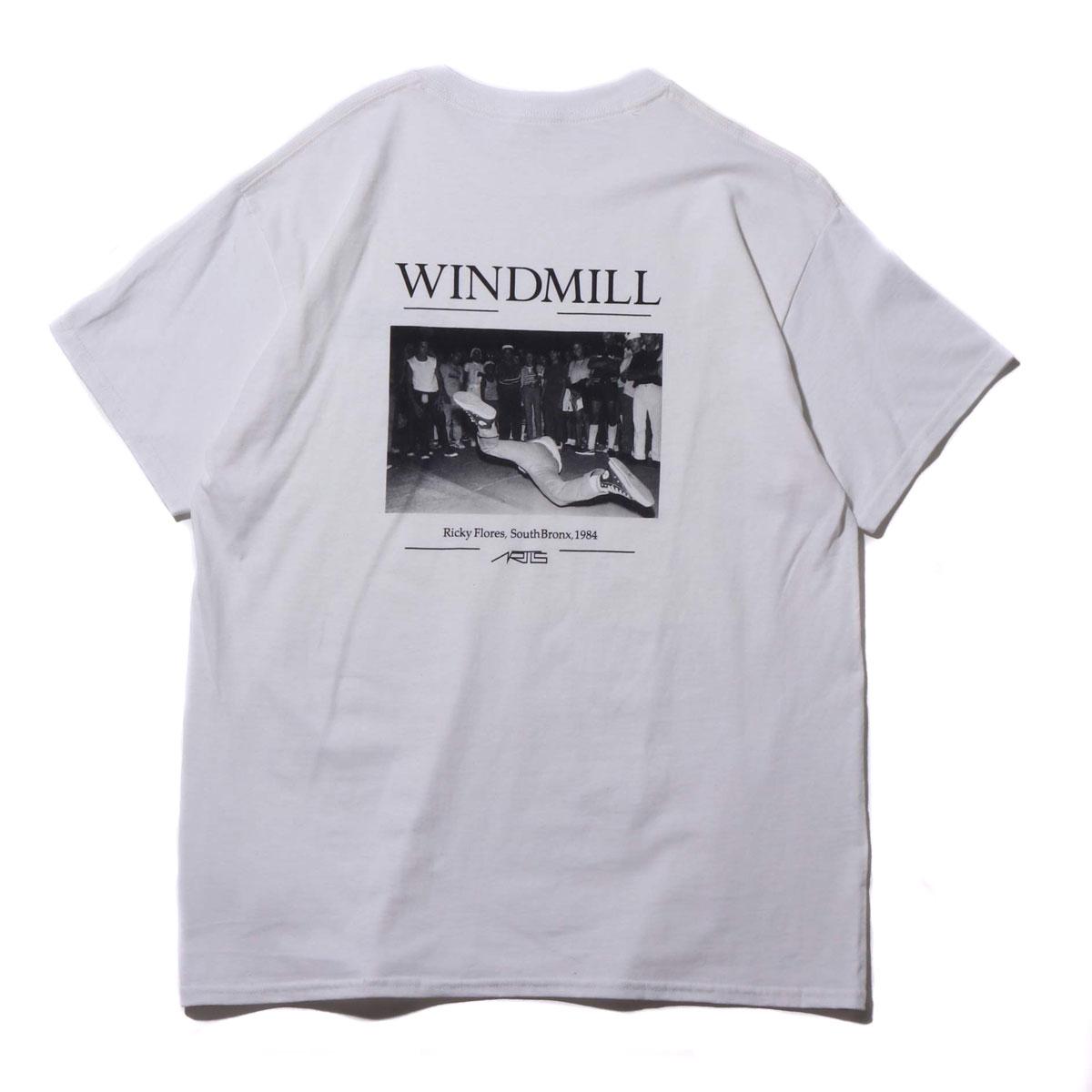 ARTIS WINDMILL TEE (アトモス アーティズ ウインドミル ティ)WHITE【メンズ Tシャツ】19SP-S