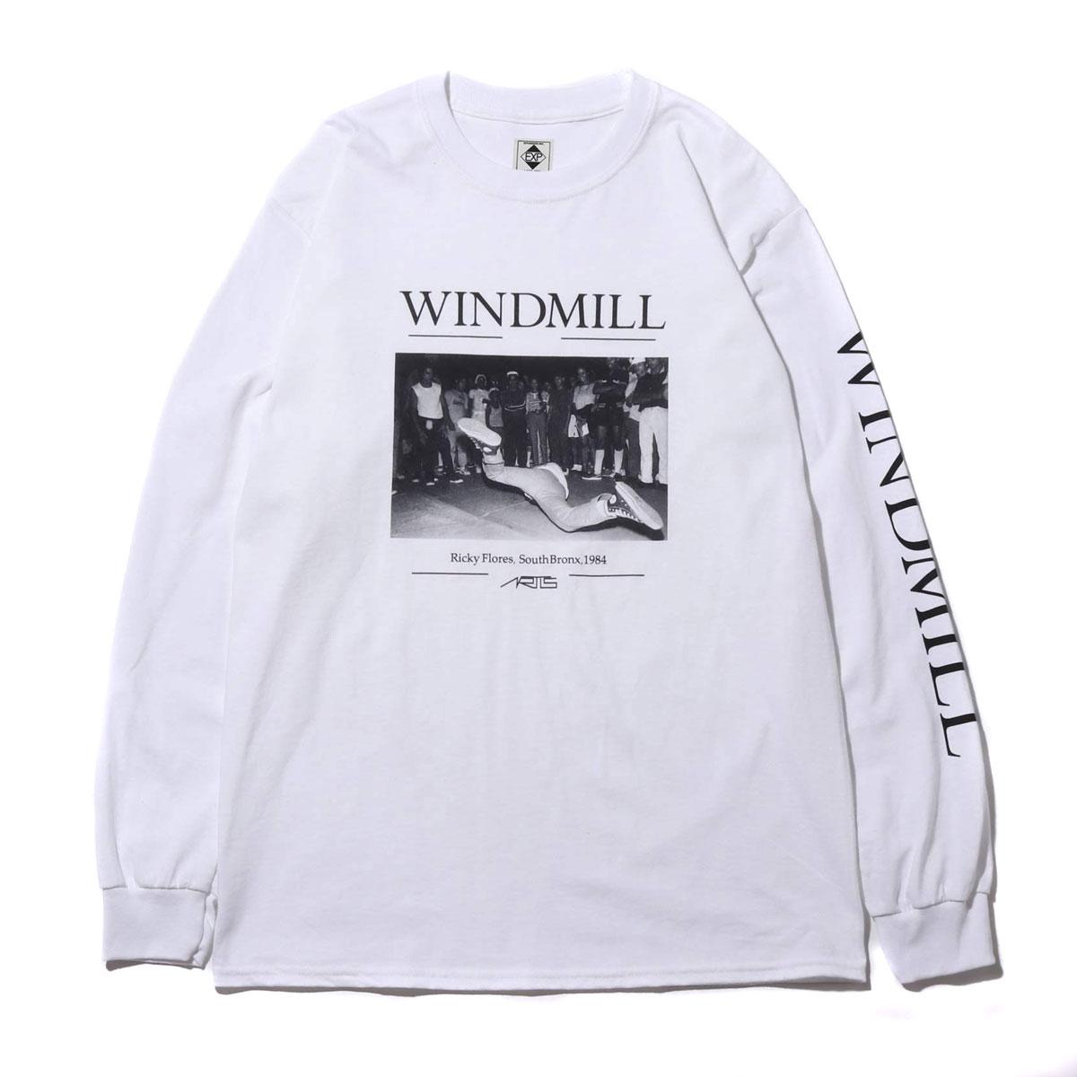 ARTIS WINDMILL LS TEE (アトモス アーティズ ウインドミル ロングスリーブ ティ)WHITE【メンズ 長袖Tシャツ】19SP-S
