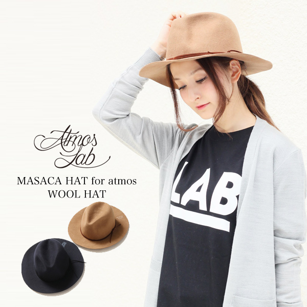 ATMOS LAB MASACA HAT for atmos WOOL HAT(アトモス ラボ マサカハット フォー アトモス ウールハット)2色展開【ハット】【帽子】16SS-I