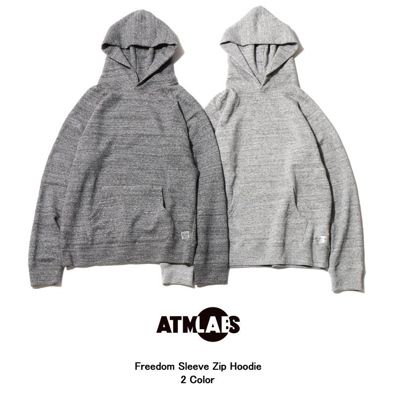 ATMOS LAB Freedom Sleeve Zip Hoodie(アトモス ラボ フリーダム スリーブ ジップ フーディ)2色展開【メンズ パーカー】16SS-I