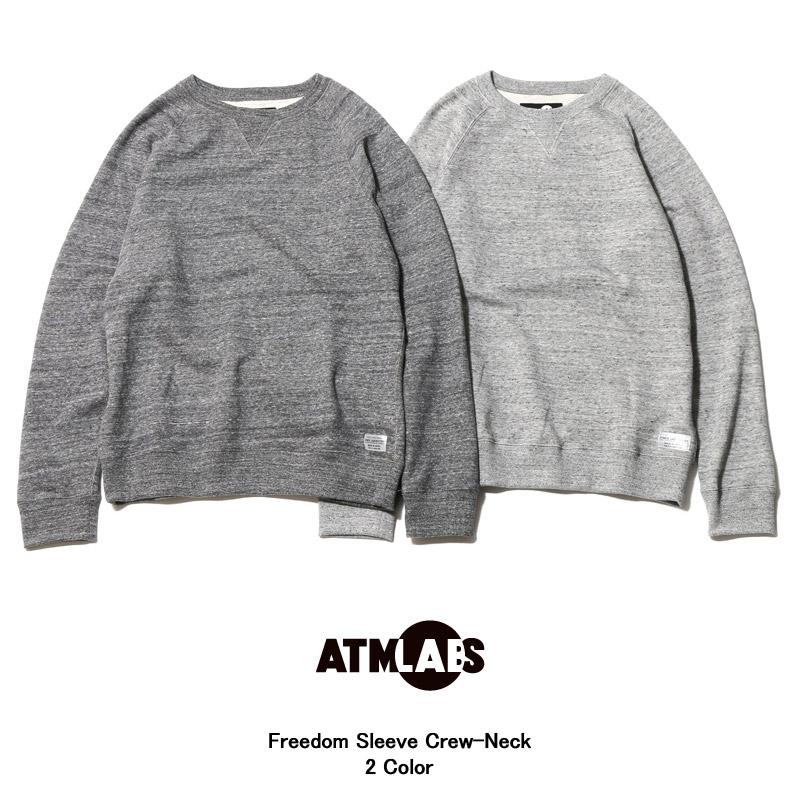 ATMOS LAB Freedom Sleeve Crew-Neck(アトモス ラボ フリーダム スリーブ クルー ネック)2色展開【メンズ】【スウェット】16SS-I