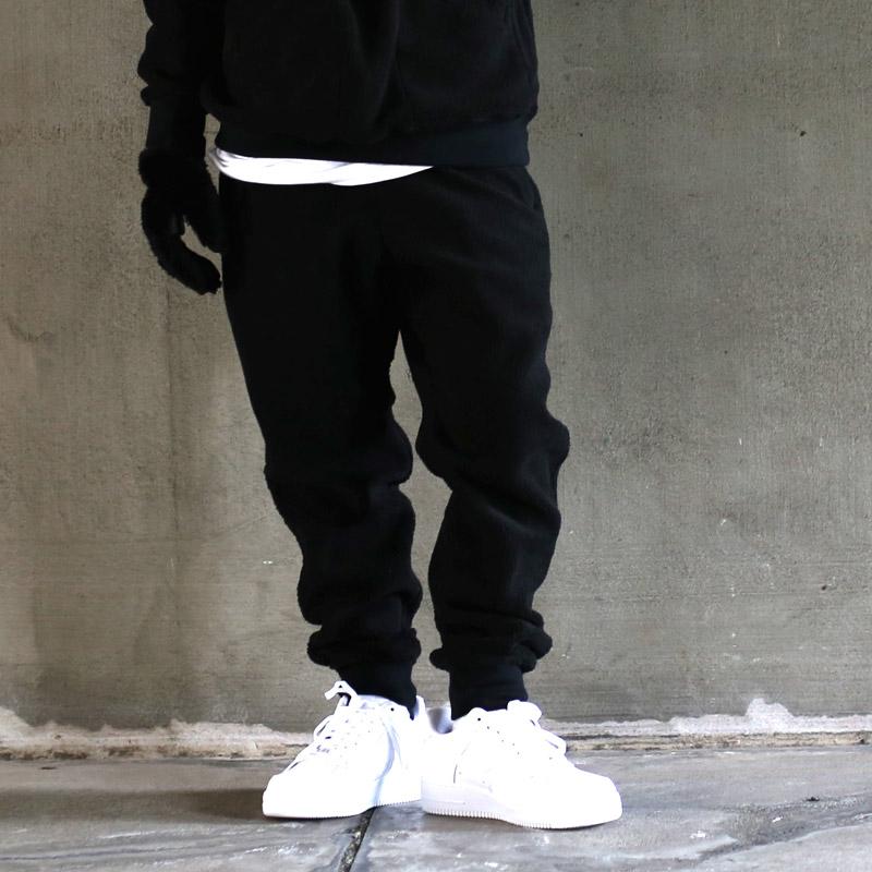 ATMOS LAB MOUNTAIN FLEECE PANTS(アトモス ラボ マウンテン フリース パンツ)(BLACK)【メンズ】17FW-I