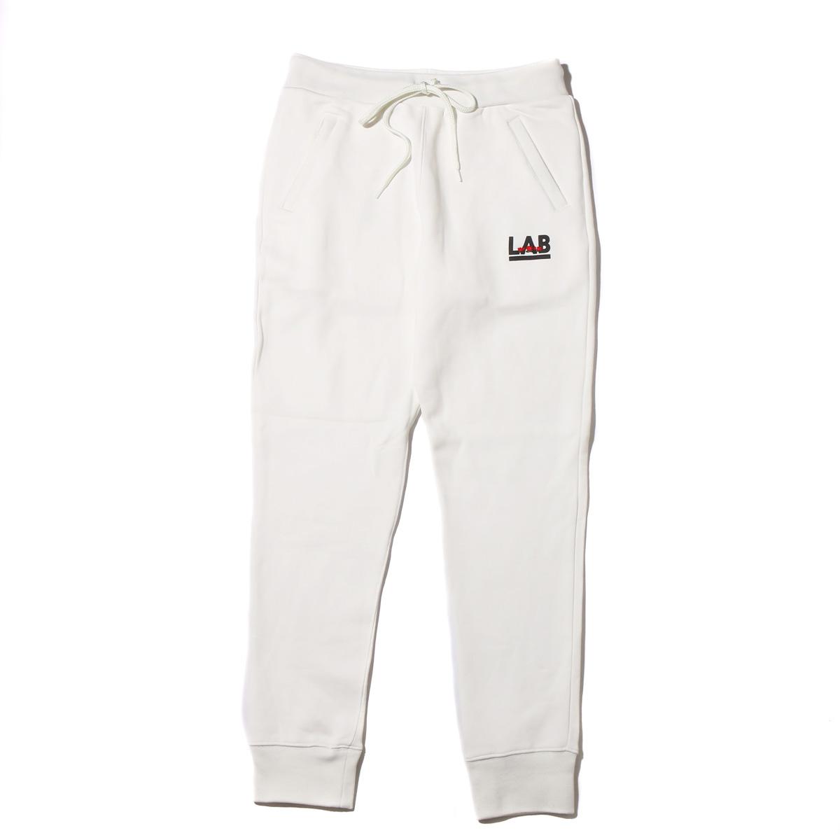 ATMOS LAB ROSE EMBROIDERY SWEAT PANTS(アトモス ラボ ローズ エンブロイダリー スウェット パンツ)(WHITE)18SP-I