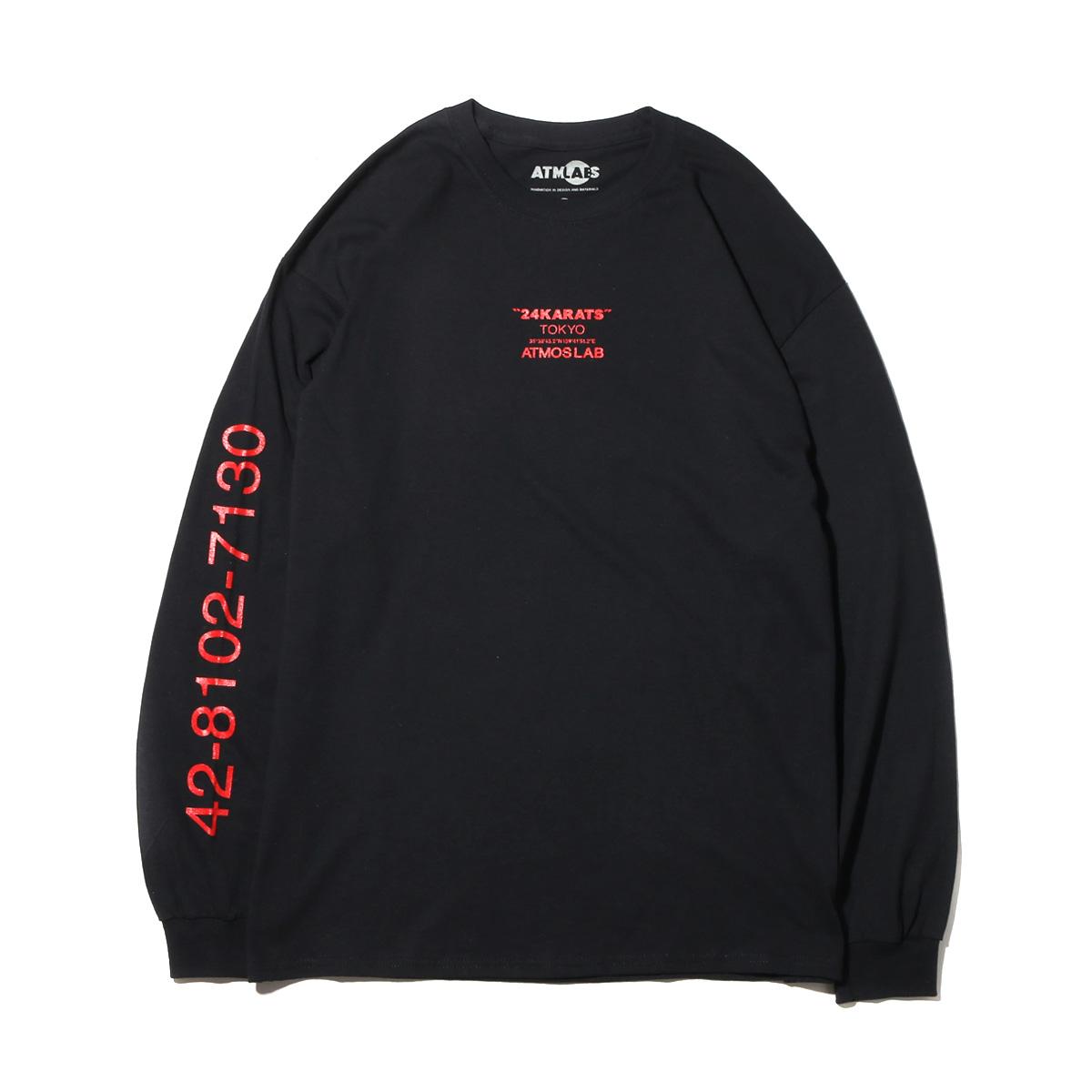 BLACK 17FW-S 【メンズ Tシャツ】 ATMOS LAB JABBA THE HUTT LS TEE (アトモスラボ ジャバザハット ロングスリーブ ティ)