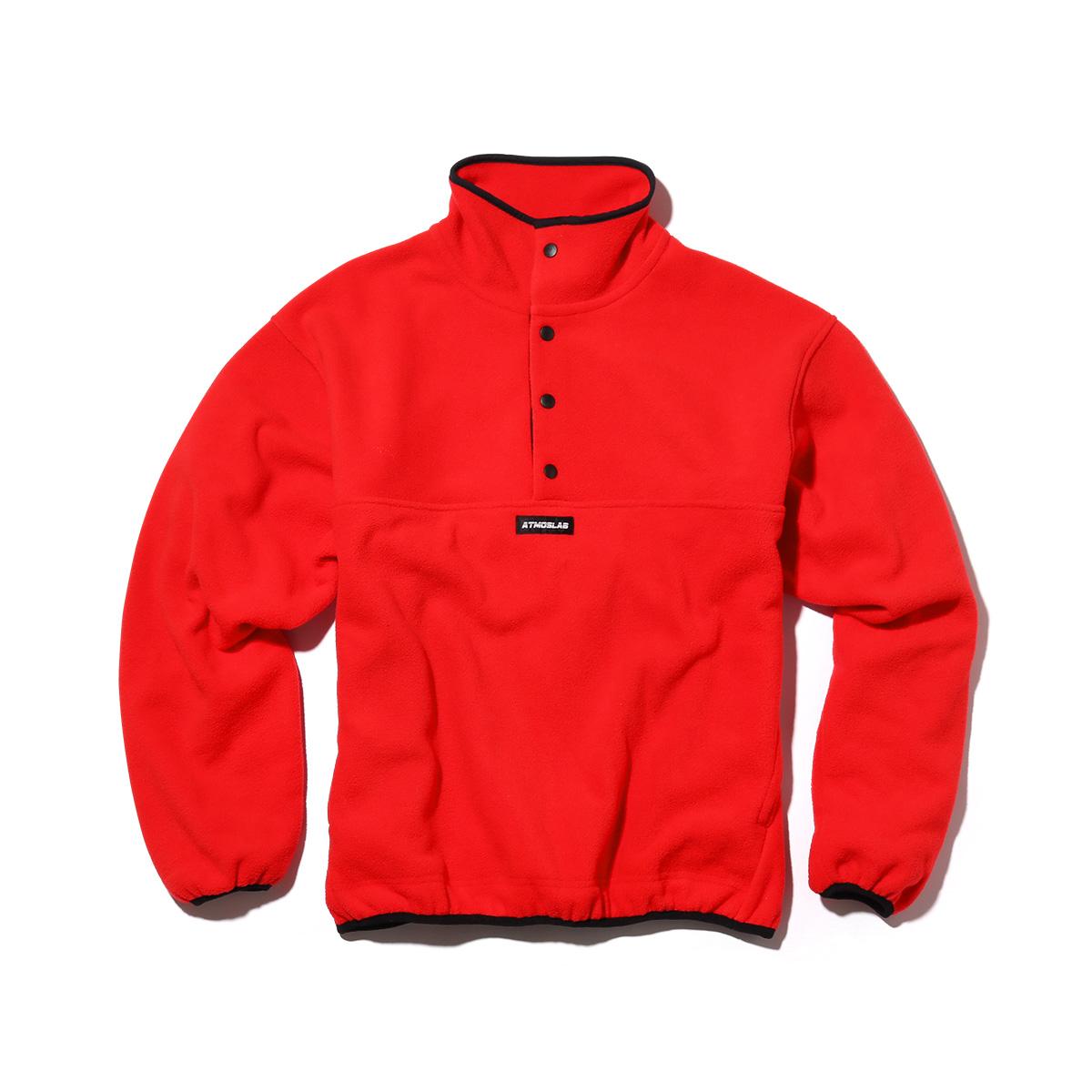 ATMOS LAB FLEECE PULLOVER(アトモスラボ フリース プルオーバー)RED【メンズ パーカー】18FW-S