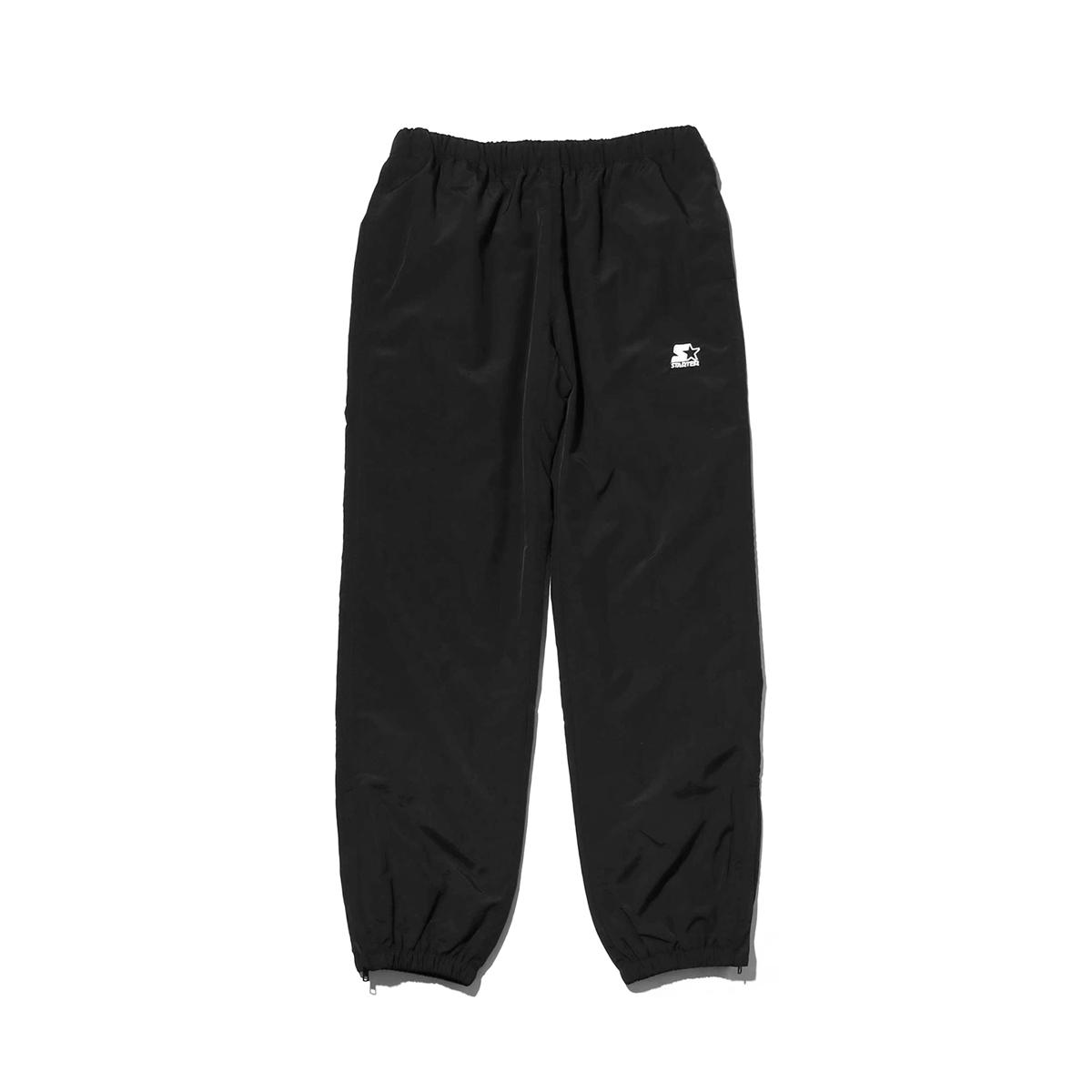 STARTER BLACK LABEL x ATMOS LAB WARM UP PANTS(スターター ブラックレーベル アトモスラボ ウォームアップ パンツ)black【メンズ パンツ】18FW-S