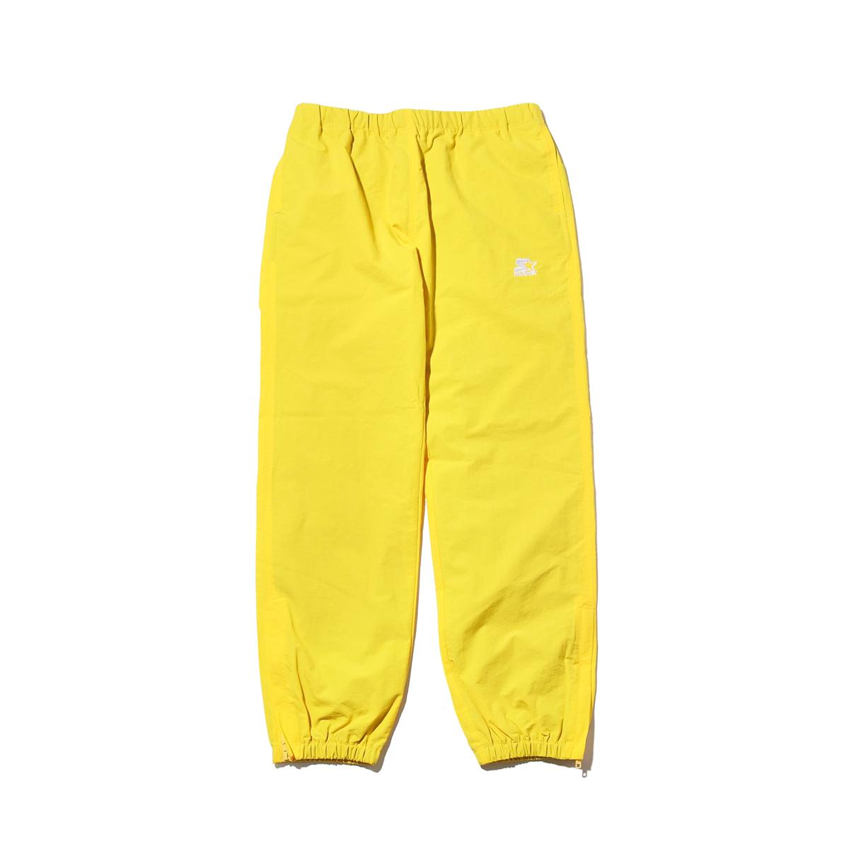STARTER BLACK LABEL x ATMOS LAB WARM UP PANTS(スターター ブラックレーベル アトモスラボ ウォームアップ パンツ)yellow【メンズ パンツ】18FW-S