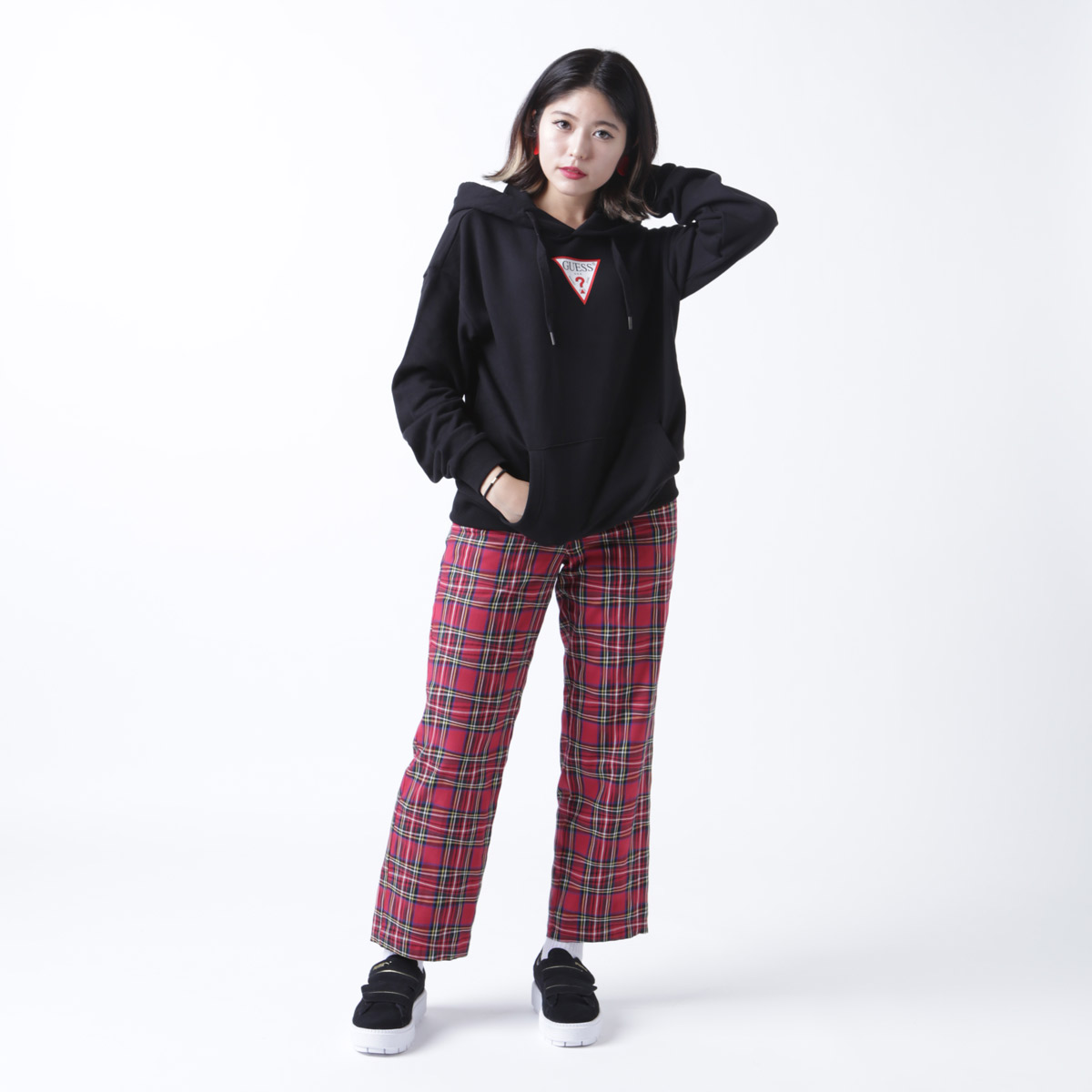 atmos pink プリントセットアップパンツ(アトモスピンク プリントセットアップパンツ)RED【レディース パンツ】18FW-I