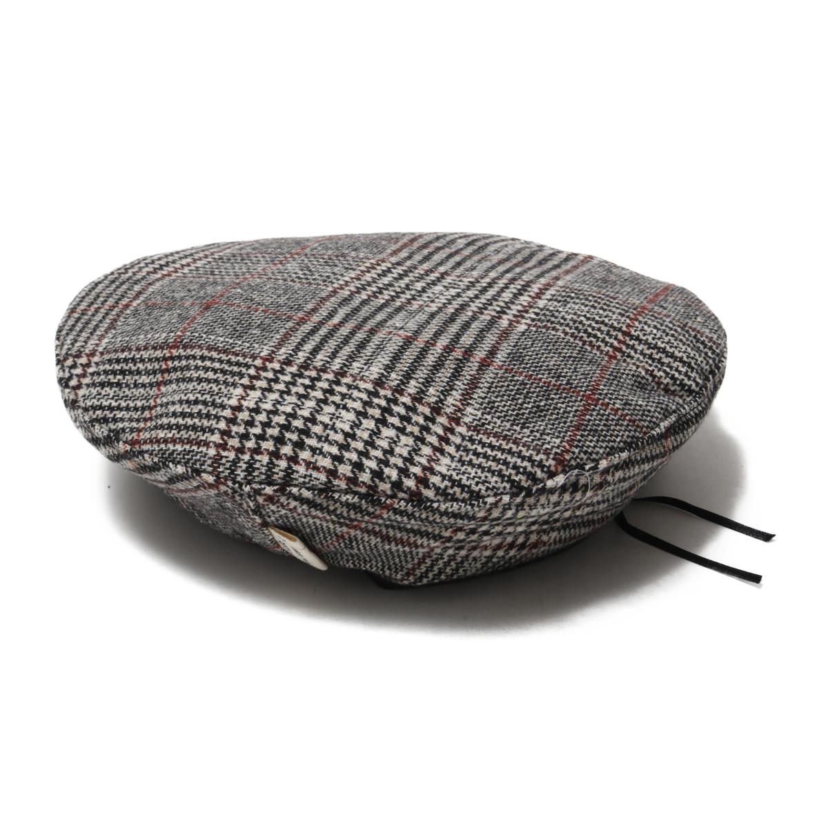atmos pink check beret (atto- MOS pink check beret bow tie) GRAY 18FW-I