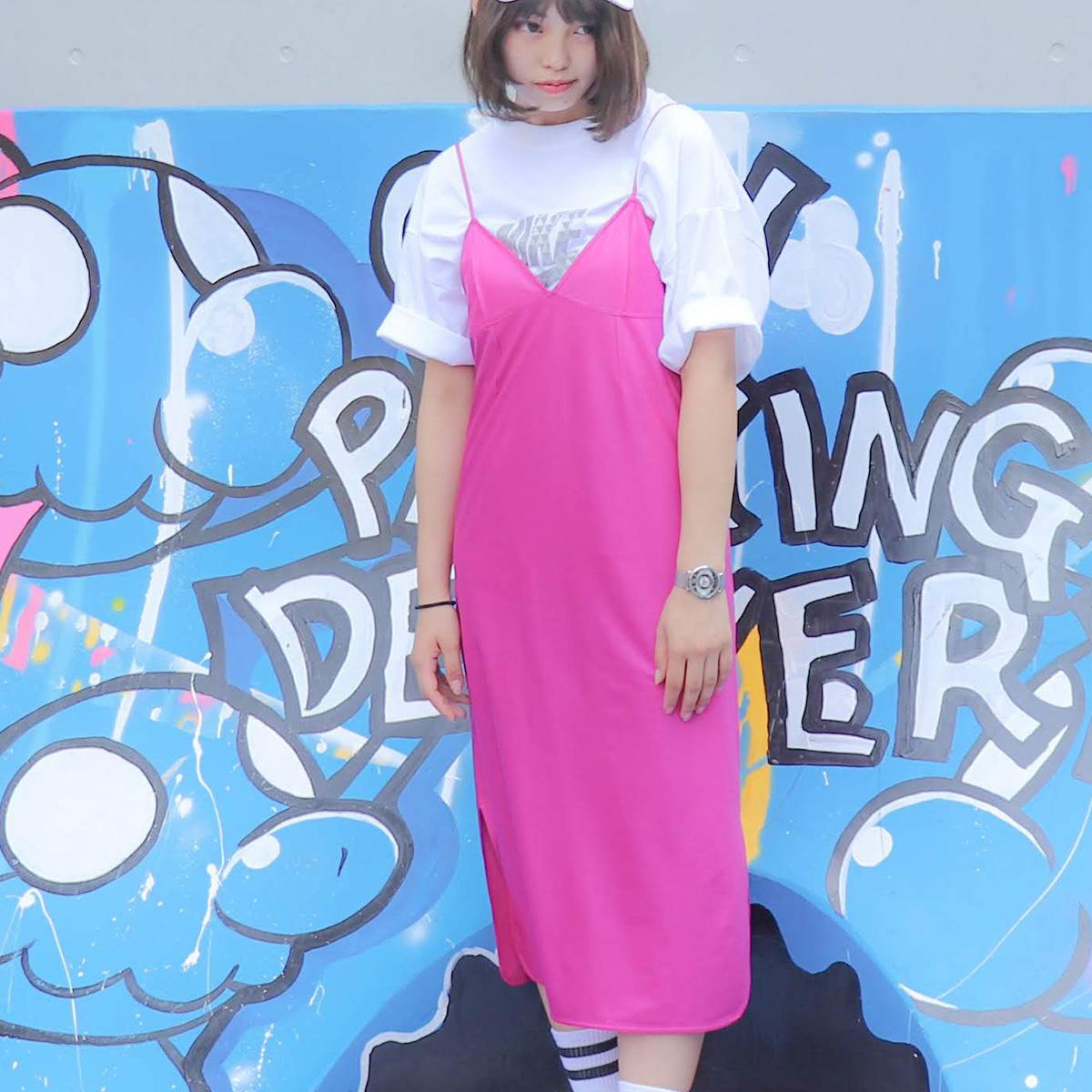 atmos pink スエード キャミ ワンピ(アトモスピンク スエード キャミ ワンピ)PINK【レディース ワンピース】19FA-I