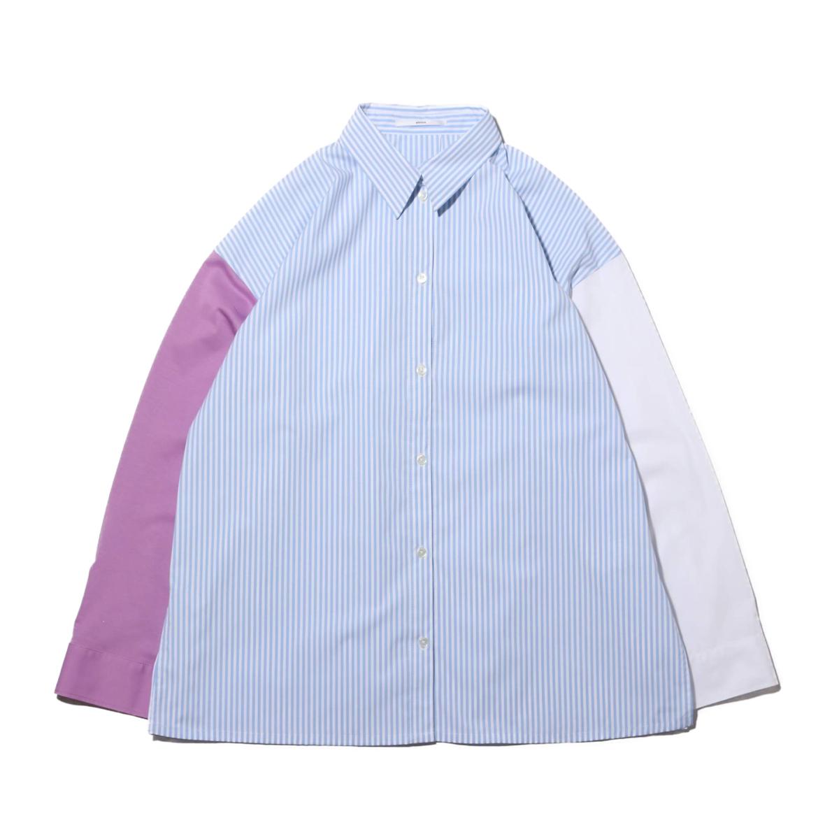 atmos pink ドッキングビックシャツ(アトモスピンク ドッキングビックシャツ)SAX【レディース 長袖シャツ】20SP-S