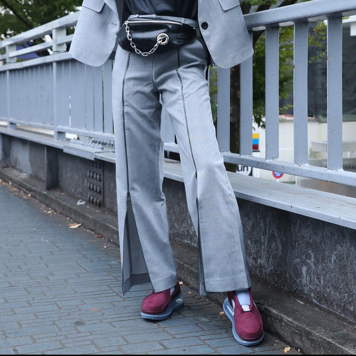 atmos pink ジップスリット パンツ(アトモスピンク ジップスリット パンツ)CHECK【レディース ロングパンツ】19FA-I