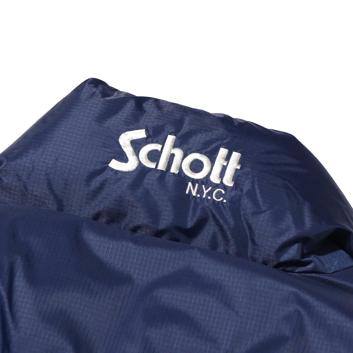 SCHOTT x ATMOS LAB REVERSIBLE DOWN JACKETショット アトモスラボ リバーシブル ダウン ジャケット BLUE メンズ ジャケット 18FW SvwN80nmO
