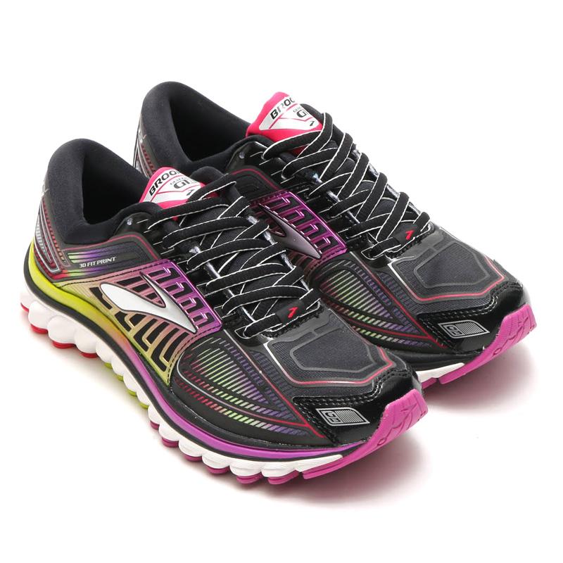 Brooks Glycerin  Womens Shoes Black Violet Pink