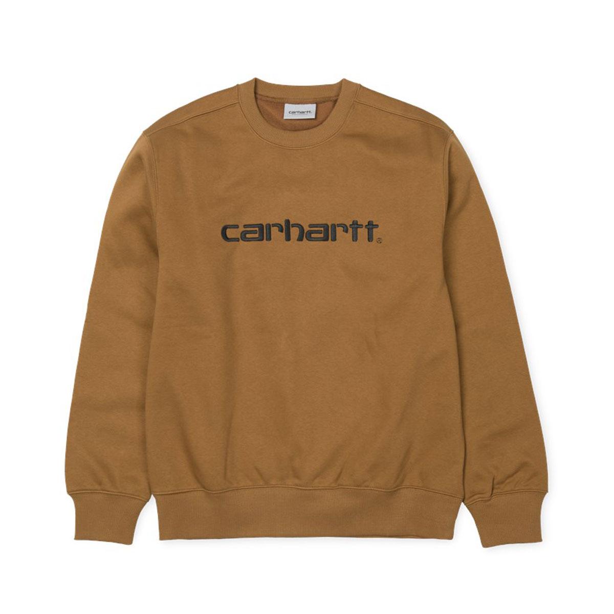 CARHARTT CARHARTT SWEATSHIRT(カーハート スウェットシャツ)H.Brown/Black【メンズ レディース スウェット】18FW-I