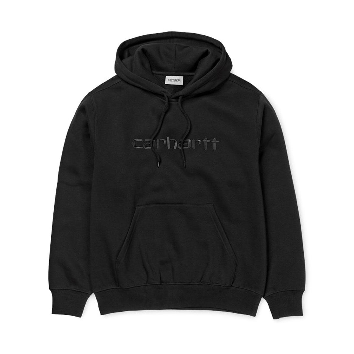 CARHARTT HOODED CARHARTT SWEATSHIRT( カーハート フーデッド カーハート スウェットシャツ)Black/ Black【メンズ レディース パーカー】18FW-I