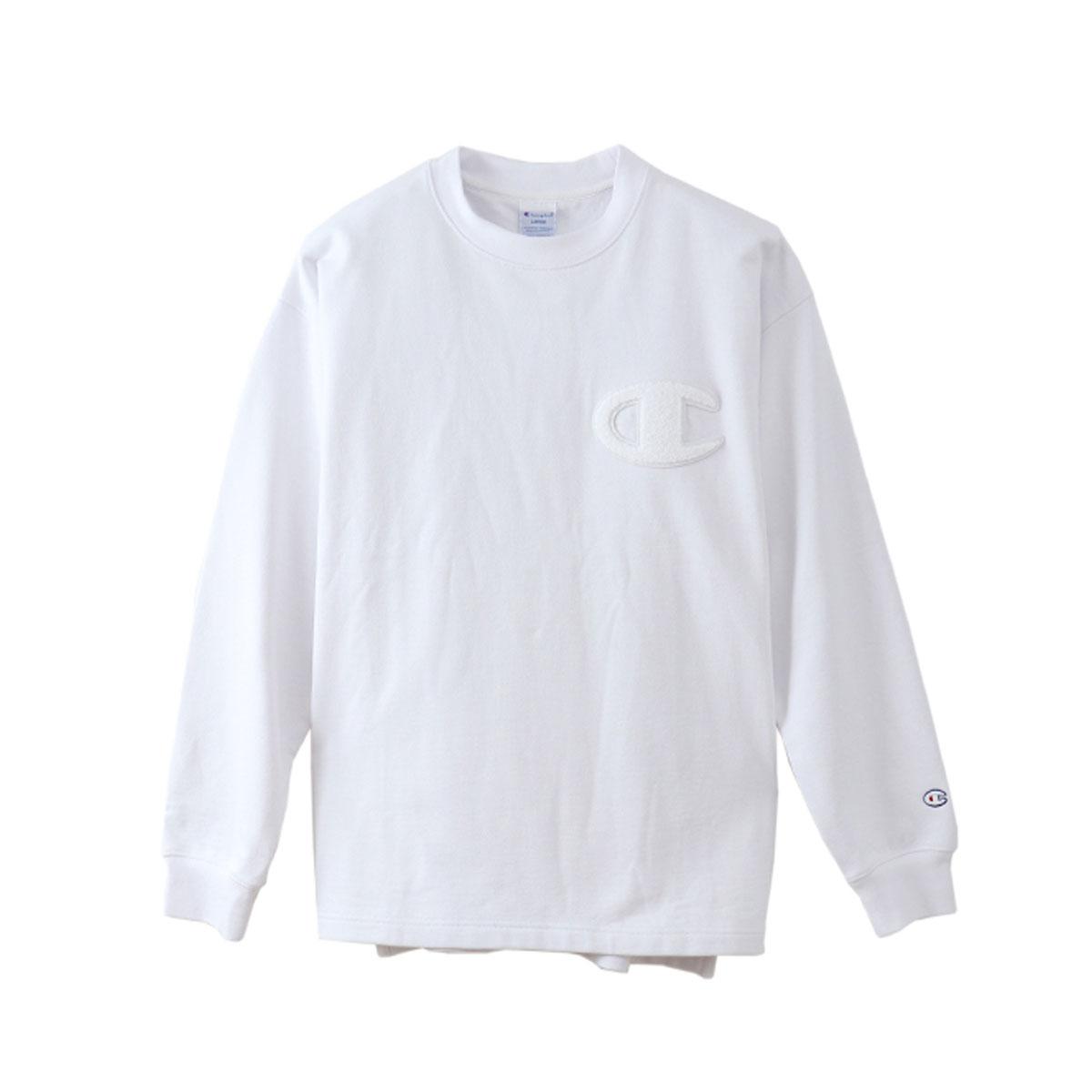 Champion CREW NECK SWEATSHIRT (チャンピオン クルーネック スウェットシャツ)ホワイト【メンズ スウェット】19SP-I