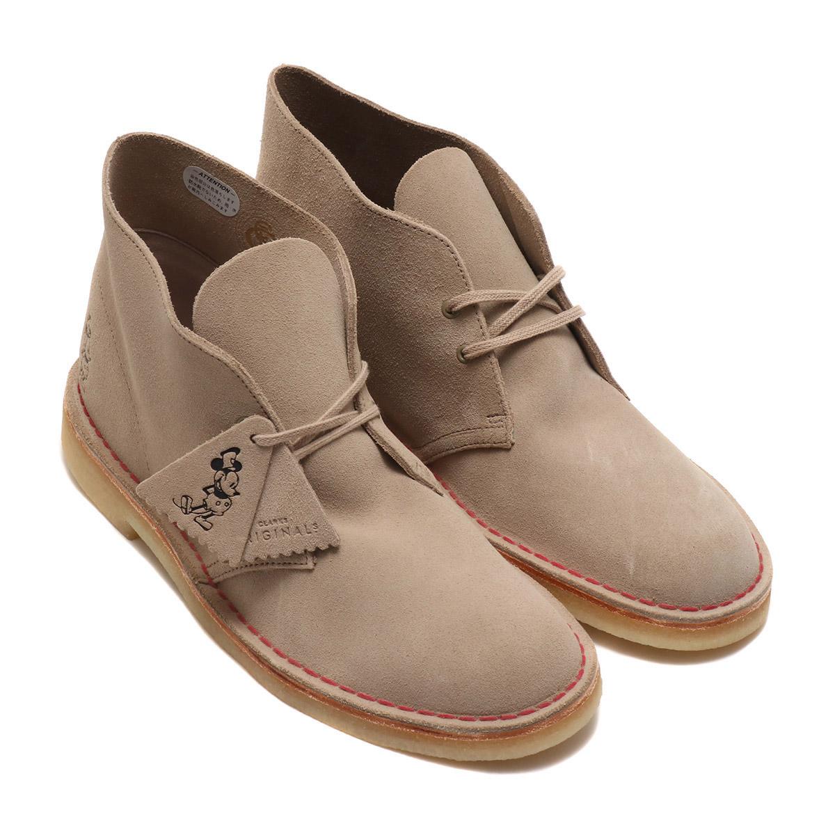 Clarks Desert Boot(クラークス デザートブーツ)Sand Suede Embos【メンズ レディース ブーツ】18FW-I