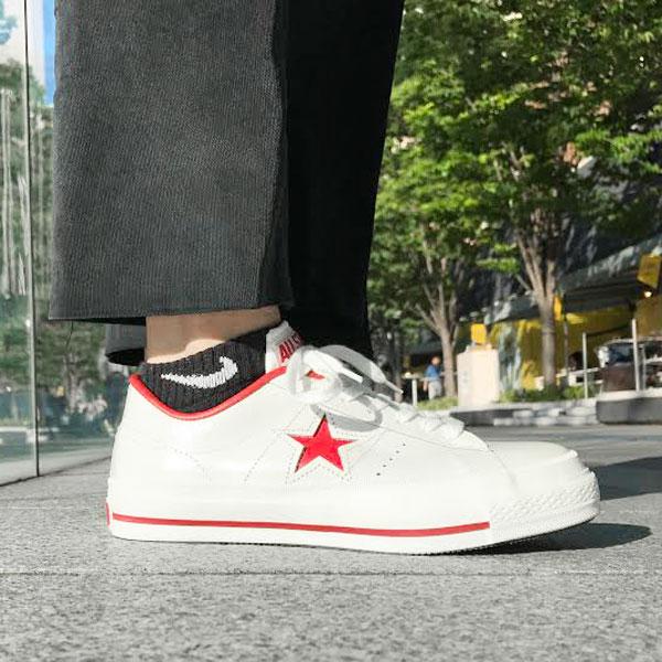 CONVERSE ONE STAR J(コンバース ワン スター J)(ホワイト/レッド)