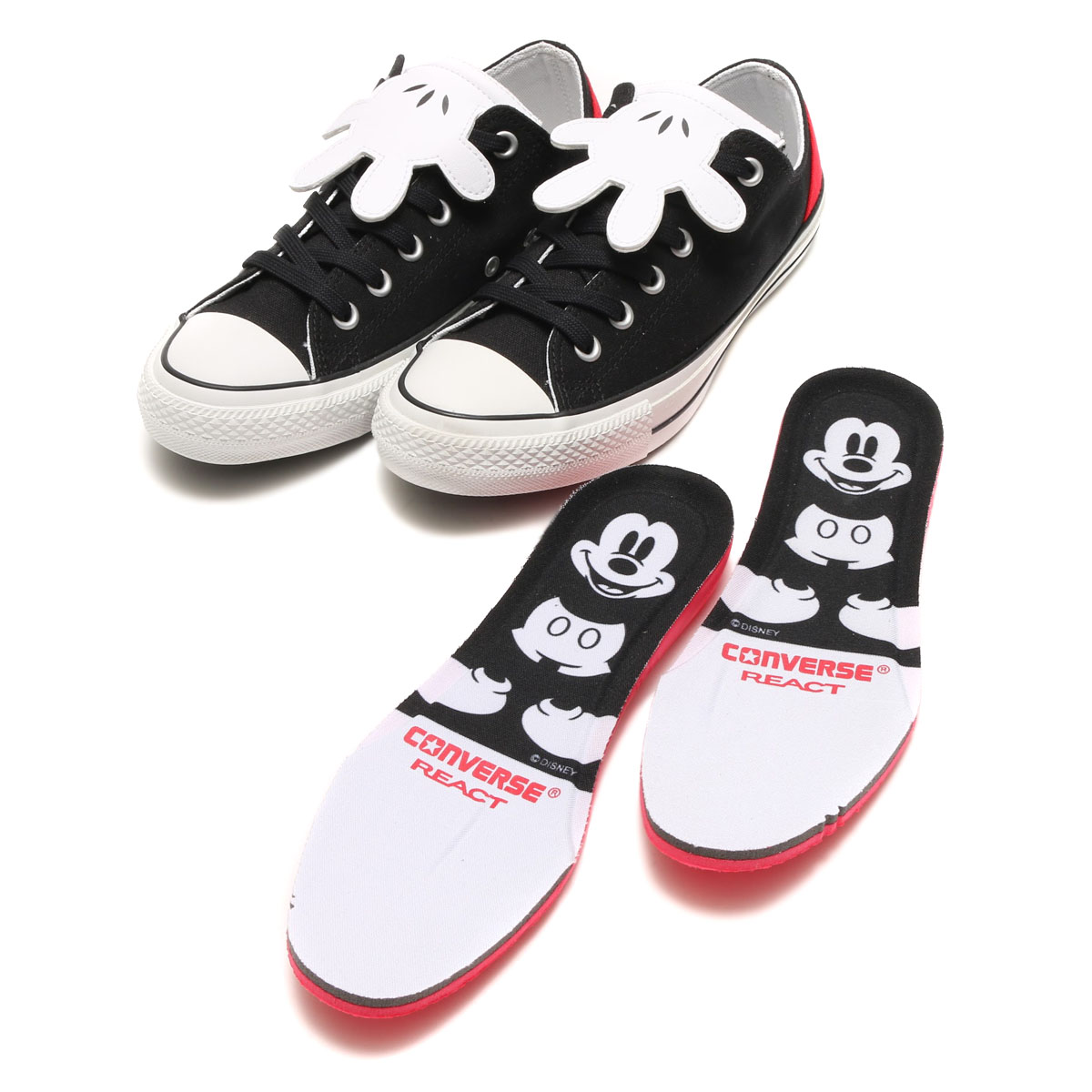 CONVERSE ALL STAR 100 MICKEY MOUSE HD OX (Converse all-stars 100 Mickey Mouse HD Ochs) BLACK 17SP-I