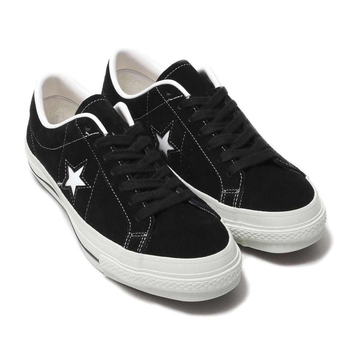 CONVERSE ONE STAR J SUEDE (コンバース ワンスター J スエード)ブラック【メンズ レディース スニーカー】19SS-S