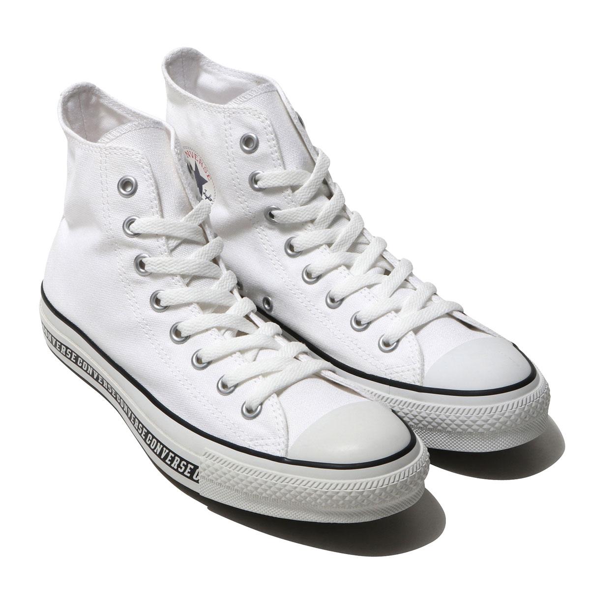 CONVERSE ALL STAR LOGOLINE HI(コンバース オールスター ロゴライン ハイ)ホワイト【メンズ レディース スニーカー】19SS-I