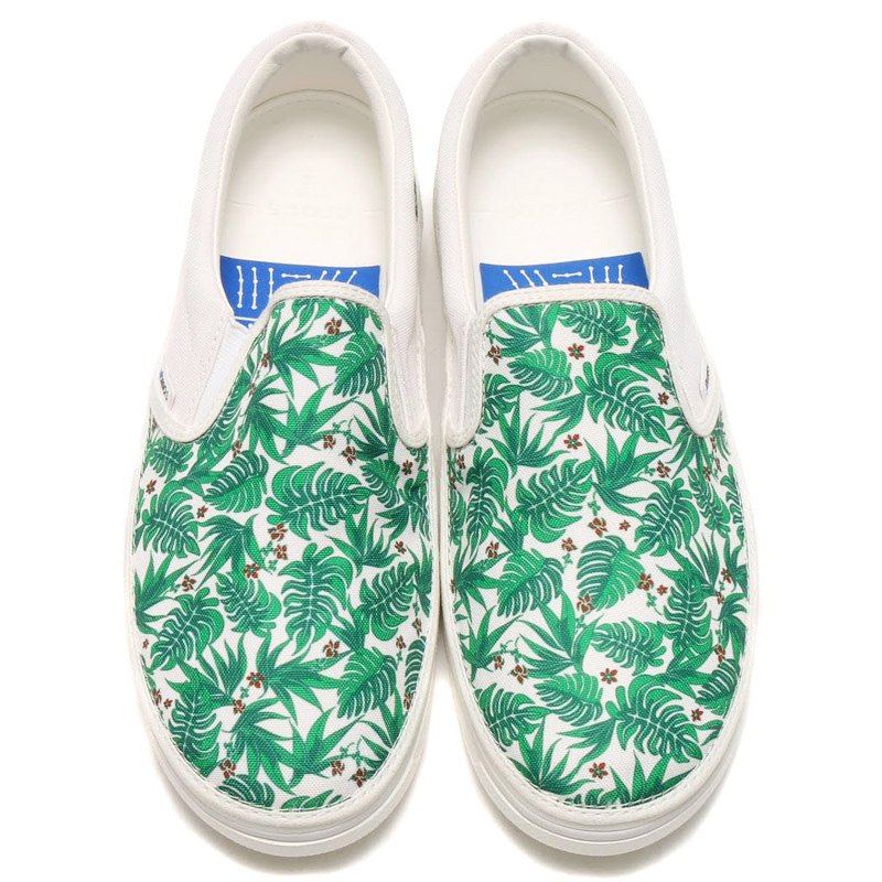 Crocs NORLIN ATMOS FLORAL SLIP-ON (Crocs Norlin Atmos floral slip-on) WHITE/WHITE 16SS-S