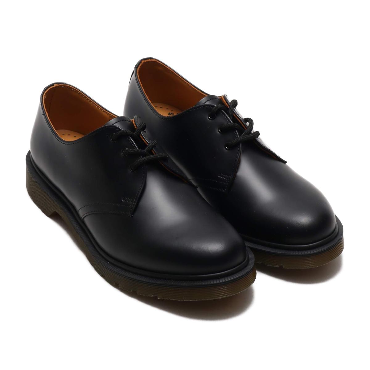 Dr.Martens 1461 PW (ドクターマーチン 1461 プレーンウェルト)Black Smooth【メンズ レディース カジュアルシューズ】19SS-I