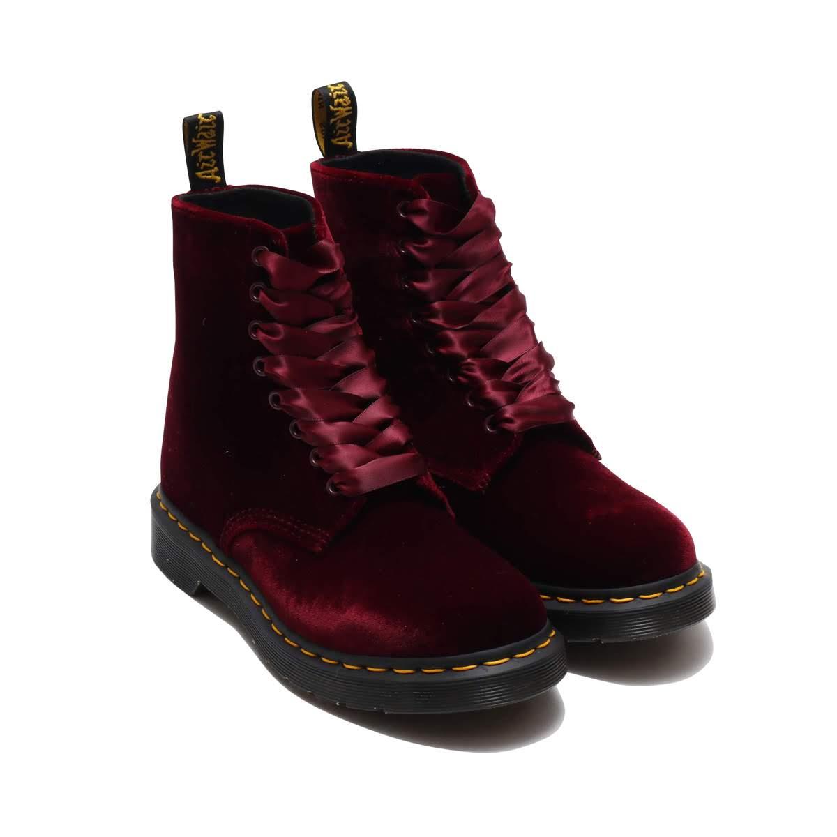 Dr.Martens 1460 Pascal Velvet (ドクターマーチン 1460 パスカル ベルベット)Cherry Red【メンズ レディース ブーツ】18FW-I