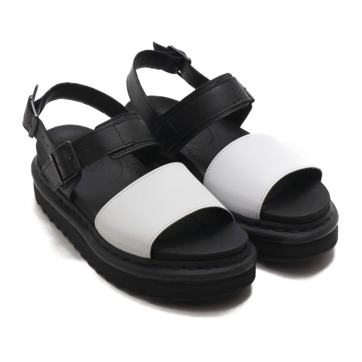 Dr.Martens Voss Strap Sandal (ドクターマーチン ボス ストラップ サンダル)Black/White Hydro Leather【レディース サンダル】19SS-I