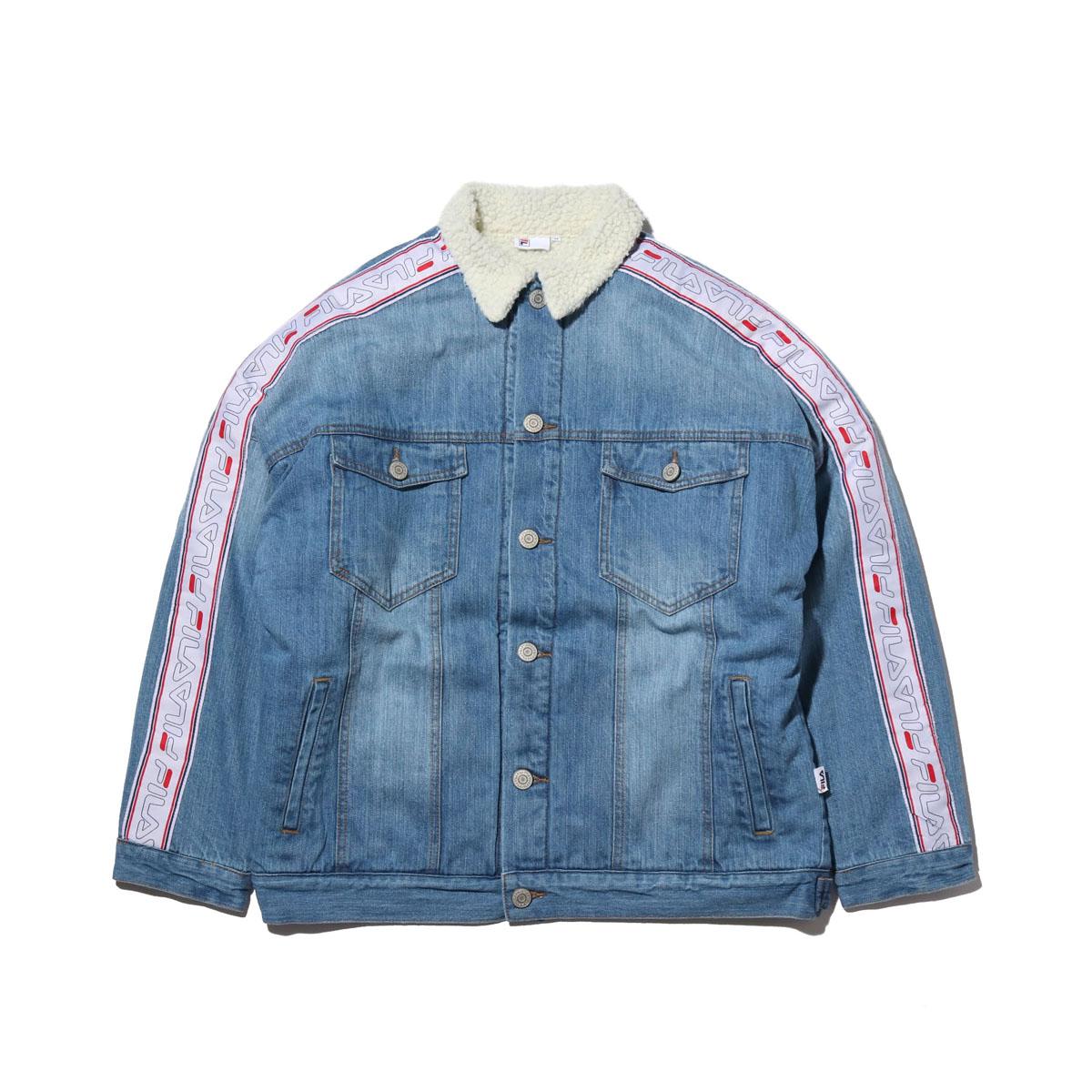 FILA Denim boa Jacket (フィラ デニム ボア ジャケット)BLUE【メンズ ジャケット】18FW-I
