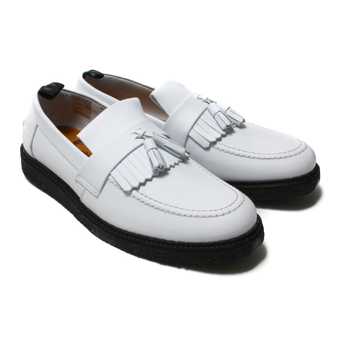 FRED PERRY X George Cox Tassel Loafer Leather(フレッドペリー タッセル ローファー レザー)WHITE【メンズ レディース スニーカー】18SP-I
